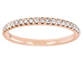 White Diamond 14K Rose Gold Band Ring 0.20ctw