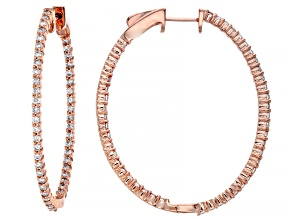 Natural Pink Diamond 14K Rose Gold Hoop Earrings 1.40ctw