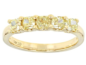 Natural Yellow Diamond 14K Yellow Gold Band Ring 1.20ctw