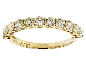 Picture of Natural Yellow Diamond 14K Yellow Gold Band Ring 1.00ctw