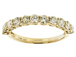 Natural Yellow Diamond 14K Yellow Gold Band Ring 1.00ctw