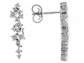 White Diamond 10k White Gold Drop Earrings 0.48ctw
