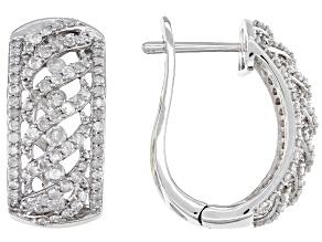White Diamond 10K White Gold Hoop Earrings 1.90ctw