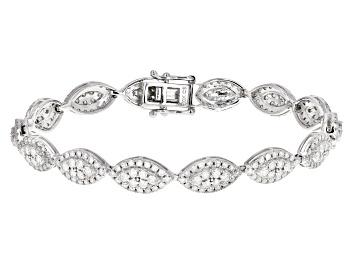 Picture of White Diamond 10K White Gold Tennis Bracelet 3.00ctw