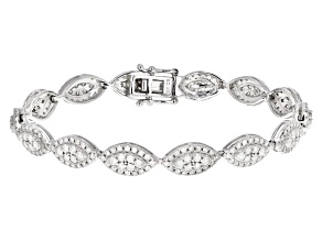 White Diamond 10K White Gold Tennis Bracelet 3.00ctw