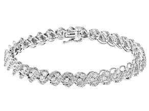 White Diamond 14K White Gold Tennis Bracelet 5.00ctw
