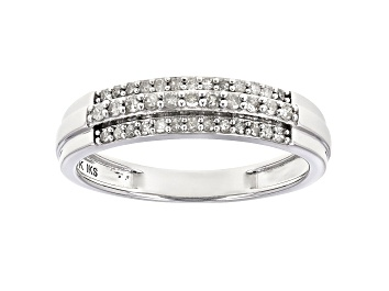 Picture of White Diamond 10K White Gold Band Ring 0.25ctw