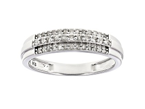 White Diamond 10K White Gold Band Ring 0.25ctw