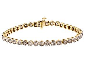 Diamond 10K Yellow Gold Tennis Bracelet 8.00ctw