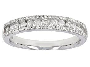 White Diamond 10K White Gold Band Ring 0.50ctw