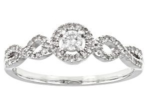 White Diamond 10K White Gold Promise Ring 0.25ctw