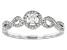 White Diamond 10K White Gold Ring 0.25ctw