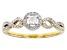 White Diamond 10K Yellow Gold Ring 0.25ctw