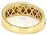 White Diamond 18K Yellow Gold Over Sterling Silver Mens Ring 0.25ctw