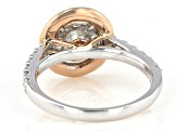 White Diamond 10K Two-Tone Gold Cluster Ring 1.00ctw