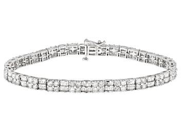 Picture of White Diamond 10K White Gold Tennis Bracelet 5.00ctw