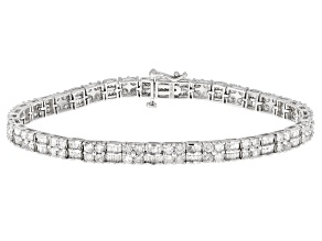 White Diamond 10K White Gold Tennis Bracelet 5.00ctw
