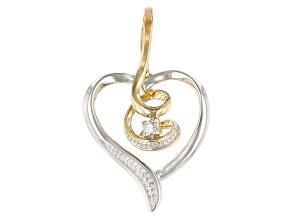 White Diamond Accent 10K Two-Tone Gold Heart Pendant