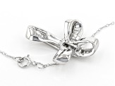 White Diamond 10K White Gold Cross Pendant With Chain 0.40ctw
