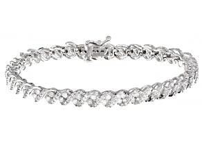 White Diamond 14K White Gold Tennis Bracelet 3.00ctw