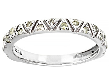 Picture of White Diamond Rhodium Over Sterling Silver Band Ring 0.15ctw