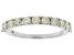 White Diamond 14K White Gold Band Ring 1.00ctw