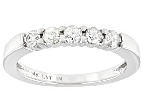 White Diamond 14K White Gold Band Ring 0.40ctw
