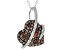 Red And White Diamond Rhodium Over Sterling Silver Heart Cluster Pendant With Chain 0.75ctw