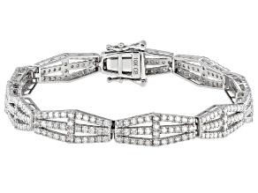 White Diamond 10K White Gold Tennis Bracelet 2.60ctw