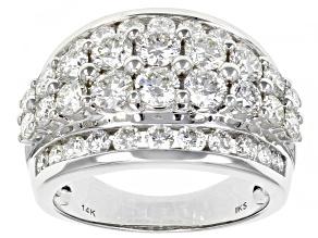 White Diamond 14K White Gold Wide Band Ring 3.00ctw