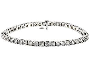 White Diamond 14k White Gold Tennis Bracelet 11.40ctw