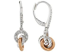 White Diamond 10k White Gold Dangle Earrings 0.60ctw