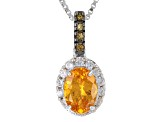 Orange Spessartite Garnet Sterling Silver Pendant With Chain 1.13ctw