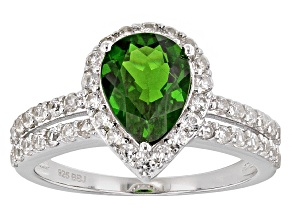 Green Chrome Diopside Sterling Silver Ring 2.29ctw