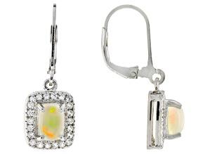 Ethiopian Honey Opal Sterling Silver Earrings