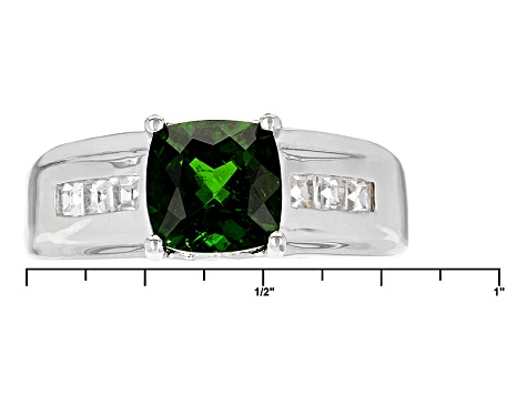 Green Chrome Diopside Sterling Silver Ring 1.60ctw