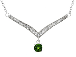 Green Chrome Diopside Sterling Silver Necklace 1.19ctw