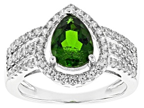 Green Chrome Diopside Sterling Silver Ring 2.12ctw