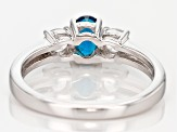 Blue Apatite Sterling Silver Ring 1.08ctw