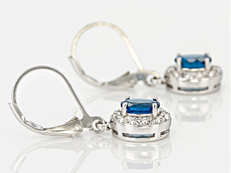 Blue Neon Apatite Sterling Silver Earrings 1.17ctw