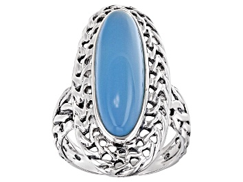 Picture of Blue Chalcedony Sterling Silver Ring