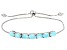 Blue Peruvian Hemimorphite Silver Sliding Adjustable Bracelet