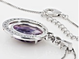 Purple Morado Opal Sterling Silver Pendant With Chain 1.01ctw
