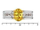 Yellow Heliodor Sterling Silver Ring 1.59ctw