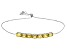 Yellow Heliodor Sterling Silver Sliding Adjustable Bracelet 4.40ctw
