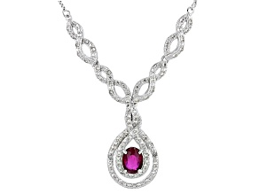 Mahaleo Ruby Sterling Silver Necklace 2.12ctw