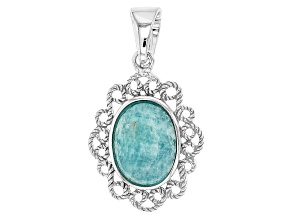 Blue Amazonite Sterling Silver Enhancer