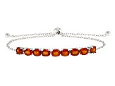 Orange Kyanite Sterling Silver Sliding Adjustable Bracelet 3.34ctw