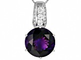 Purple Moroccan Amethyst Sterling Silver Pendant With Chain 10.06ctw