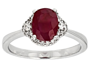 Red Ruby Sterling Silver Ring 1.94ctw